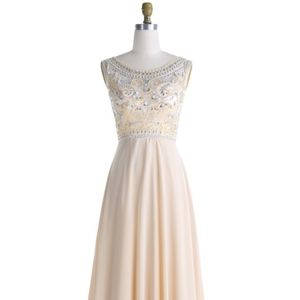 Gorgeous Champagne Evening Dress